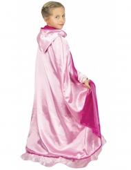 Capa princesa reversible rosa lujo niño