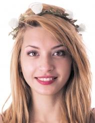 Corona de flores blancas adulto