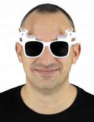 Gafas unicornio blancas adulto