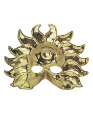 Máscara sol dorado de plástico adulto
