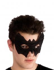 Máscara murciélago de tela con relieves adulto