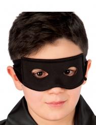 Antifaz caballero negro de tela niño