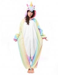 Disfraz Kigurumi™ unicornio arcoíris adulto