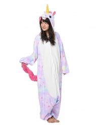 Disfraz kigurumi ™ unicornio pastel con estrellas adulto
