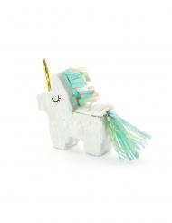 Mini piñata unicornio blanco 8 x 2,5 cm