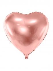 Globo aluminio corazón rose gold metalizado 45 cm
