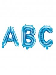 Globo de aluminio letra azul 35 cm