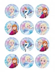 12 Decoraciones para galletas Frozen™ 6 cm