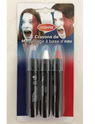 3 Lapiceros maquillaje tricolor Francia