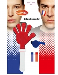 Kit accesorios y maquillaje hincha Francia