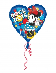 Globo aluminio corazon Minnie Mouse retro™ 43 cm