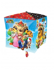 Globo de aluminio cubo Super Mario™ 38 x 38 cm