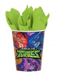 8 Vasos de cartón El destino de las Tortugas ninja™ 266 ml