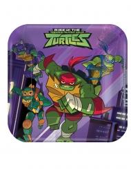 8 Platos pequeños cuadrados El destino de las tortugas ninja™ 18 x 18 cm
