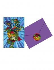 8 Tarjetas de invitación y sobres El ascenso de las Tortugas Ninja™