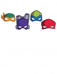 8 Máscaras de cartón El ascenso de las Tortugas Ninja™