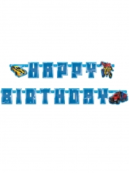 Guirlanda de cartón Happy Birthday Transformers™ 180 x 15 cm