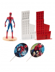Kit decoración de tarta Spiderman™ 8 cm