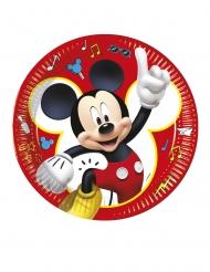 8 Platos de cartón Mickey y sus amigos™ 23 cm