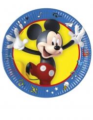 8 Platos pequeños de cartón Mickey y sus amigos™ 20 cm