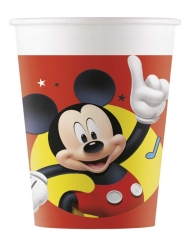 8 Vasos de plástico Mickey y sus amigos™ 200 ml