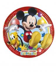 8 Platos pequeños de cartón Mickey Mouse™ 20 cm