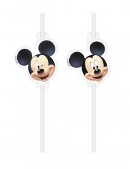 4 Pajitas medallón plástico Mickey™