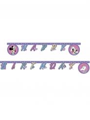 Guirlanda Happy birthday Minnie Mouse™ y unicornio 2 m