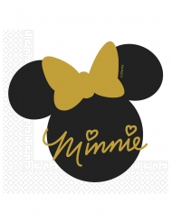 20 servilletas  de papel Minnie Gold™ 33 x 33 cm