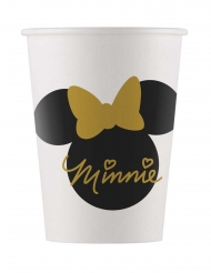 8 Vasos de cartón Minnie Gold™ 160 ml
