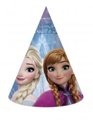 6 Gorritos de cartón Frozen™ copos de nieve