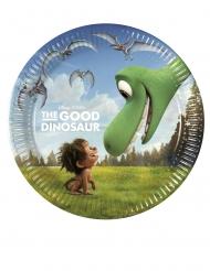 8 Platos pequeños de cartón Un gran dinosaurio™ 20 cm