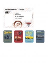 4 Tarjetas de invitación y pegatinas Cars 3™