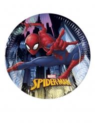 8 Platos pequeños de cartón Spiderman™ 20 cm