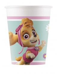 8 Vasos de cartón Paw Patrol™ Skye y Everest 200 ml
