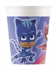 8 vasos de cartón PJ Masks™ 200 ml
