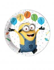 8 Platos de cartón Minions ballons party™ 23 cm