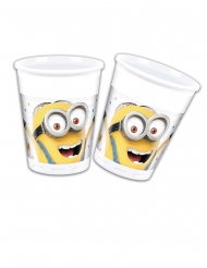 8 Vasos de plástico Minions™ ballons party™ 200 ml