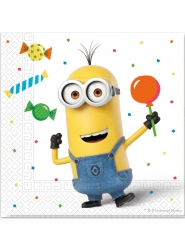 20 Servilletas de papel Minions ballons party™ 33 x 33 cm