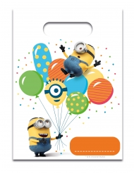 6 Bolsas de regalo Minions ballons party™ 23 x 17 cm