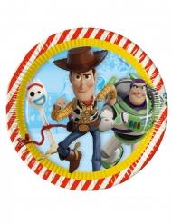 8 Platos de cartón Toy Story 4™ 23 cm