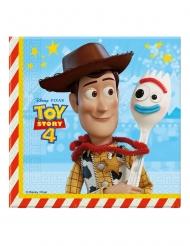 20 Servilletas de papel Toy Story 4™ 33 x 33 cm