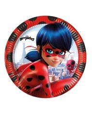 8 Platos de cartón Miraculous Ladybug™ 23 cm