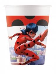 8 Vasos de cartón Prodigiosa Ladybug™ 200 ml