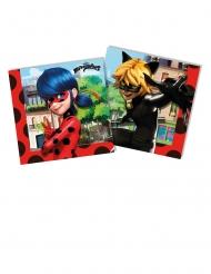 20 Servilletas de papel Miraculous Ladybug™ 33 x 33 cm