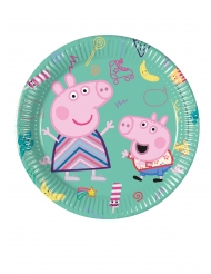 8 Platos pequeños de cartón Peppa Pig™ 20 cm