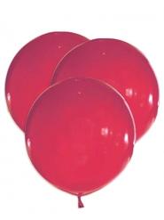 5 Globos gigantes de látex rojos 47 cm