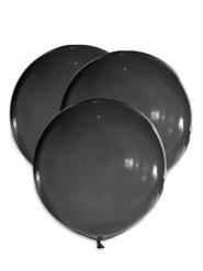 5 Globos gigantes de látex negros 47 cm