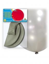 Globo gigante de látex plateado 80 cm