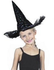 Sombrero bruja estrellas lujo niño